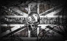 alchemy skull union jack tattoo wall paper mural buy at europosters alchemy skull union jack tattoo wallpaper mural