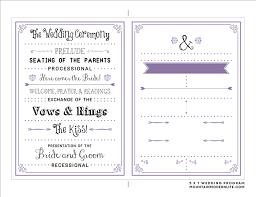 Best Wedding Programs Best Wedding Program Templates Obfuscata
