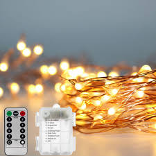 led christmas lights with remote control 10 meter battery powered led string lights with remote control