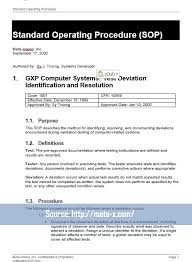 40 professional standard operating procedures templates in word