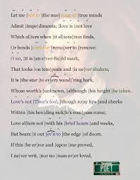 iambic pentameter u0026 shakespeare u0027s sonnet 116 poemshape