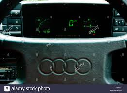 audi dashboard digital display on dashboard of the audi quattro stock photo