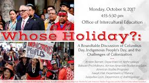 whose holiday a roundtable discussion of columbus day