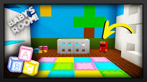 minecraft how to make a baby u0027s room nursery youtube