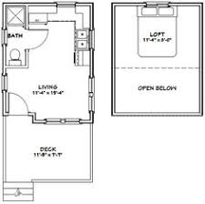 floor plans for cabins 16 x34 with loft plus 6 x34 porch side 8x12 tiny house plan search bed upstairs seat