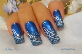 winter new year s blue nail design nail gallery