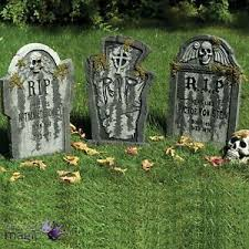 tombstone decorations gravestone tombstone graveyard ground stake party prop