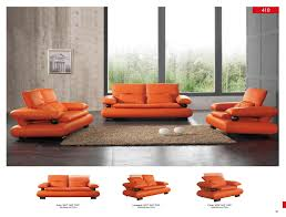 410 leather modern 3 pcs sets living room furniture