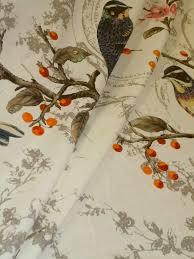 home decor weight fabric hamilton fabrics pattern splendor color opal birds and floral print