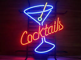 Cheap Neon Lights New Cocktails Martini Pub Home Tiki Bar Neon Sign Wall Decor Art
