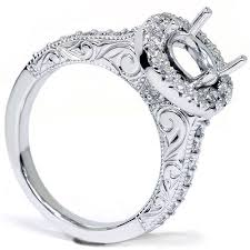 halo engagement ring settings only vintage engagement ring settings new wedding ideas trends