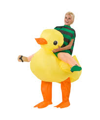 rubber duck rider inflatable halloween costume