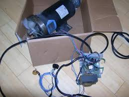 use a treadmill dc drive motor and pwm speed controller for