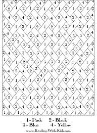 color number beautiful color number coloring pages