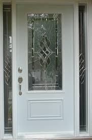 etched front door glass