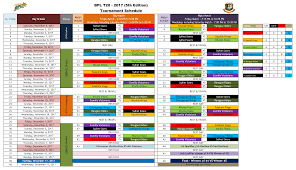 bpl 2017 schedule time table bpl t20 2017 schedule points table live streaming online hit