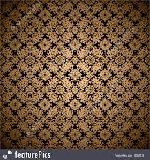 illustration of gold leaf wallpaper