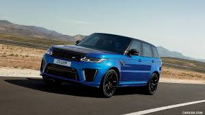 range rover svr black 2018 range rover sport svr front three quarter hd wallpaper 5
