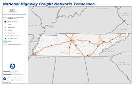 Map Of Tennesse National Highway Freight Network Map And Tables For Tennessee