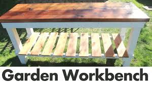 Diy Outdoor Sink Station by Bench Outdoor Garden Work Bench The Bonus Of Making Diy Garden