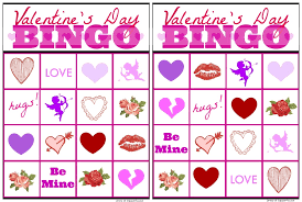 s day bingo free printable s day bingo cards