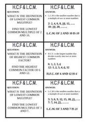 hcf and lcm pdf math basics pinterest teaching student