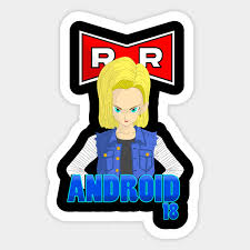 z android 18 z android 18 cell sticker teepublic