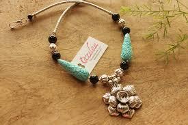 turquoise necklace sets images Flower turquoise silver tone handmade designer necklace set at jpg