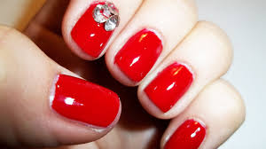 red w crystals nail art tutorial based on tiffany snsd