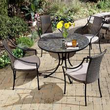 Outdoor Patio Table And Chairs Home Styles Harbor Mosaic Outdoor Dining Set Hayneedle