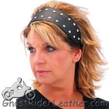 leather headband his and hers diamond plate solid genuine leather headbands with