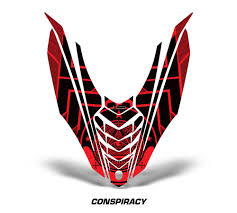 yamaha emblem yamaha viper snowmobile hood wrap kit 2014 invision artworks