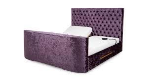 radiant king size 5 ft adjustable tv bed u0026 mattress impulse dfs