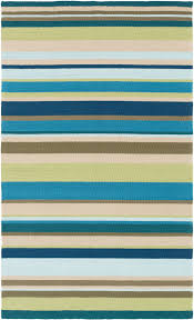 Outdoor Rugs Adelaide by Sea Blues Striped Area Rug