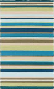 sea blues striped area rug indoor outdoor area rugs outdoor