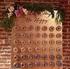 wedding backdrop board doughnut walls are the next big wedding reception trend