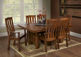 Mission Dining Room Chairs by Solid Wood Amish Dining Or Kitchen Table Sonora Mission Dining