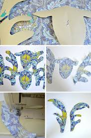 how to make a fabric stags head with free pattern pillar box blue