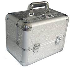 Vanity Box Large Silver Aluminium Beauty Make Up Jewellery Vanity Case Box