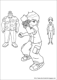 ben 10 coloring pages free kids
