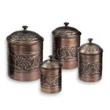 copper kitchen canister sets 30 best kitchen canister images on kitchen