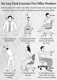 Office Workouts At Your Desk by Six Easy Desk Exercises For Office Workers The Poke