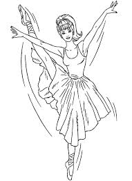 Ballet Coloring Pages Ballerina Coloring Pages Barbie Ballet Ballerina Printable Coloring Pages