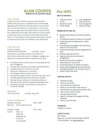 Administrative Assistant Resume Template Word Skills Resume Template Word Agreeable Based Extraordinary Download