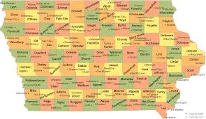 map of iowa towns iowa county map
