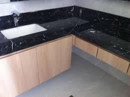 marmorplatte küche rechteck wannen marmor platte countertop nero marquan für küche