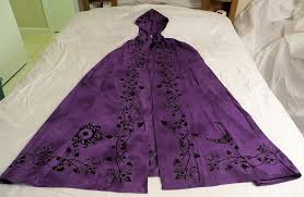 celtic ritual robes goddess cloak purple black goddess cape robe pagan wicca ritual