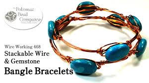 make bracelet beading wire images Stackable wire gemstone bangle bracelets jpg