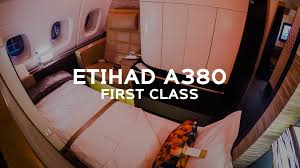 etihad a380 first class apartment auh to jfk ey103 youtube