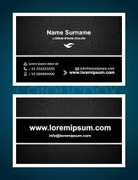 Business Cards Front And Back Business Card Creative Design Elegant Vintage Style Print